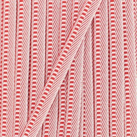Ruban gros grain Hypno- rouge x 1m
