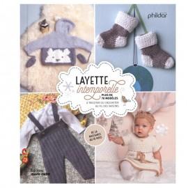 """Livre """"Layette intemporelle - Plus de 70 modèles à tricoter ou crocheter au fil des saisons """""""