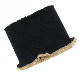 Organic Cotton Ribbed Cuffs (110x8cm) - black gold