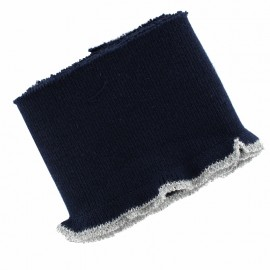 Organic Cotton Ribbed Cuffs (110x8cm) - blue silver