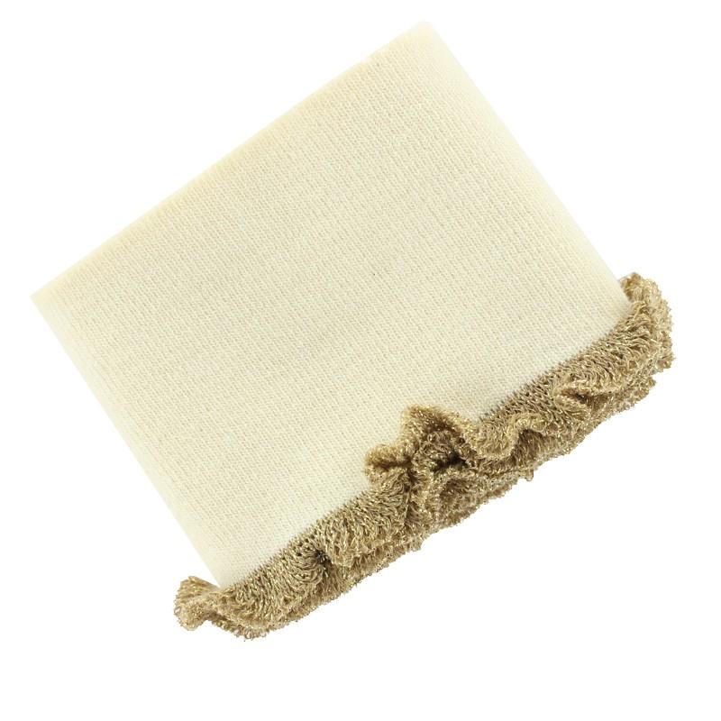 ... Bande bord côte à volant coton bio (110x8cm) - crème doré 9c64d2b2e13