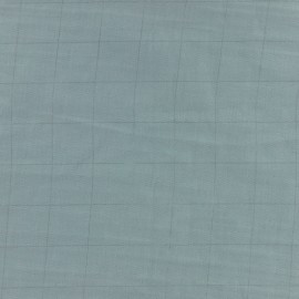 Double cotton gauze fabric diamond France Duval- grey /silver x 10cm