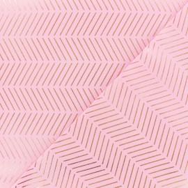 Tissu coton Rico Design Chevron - rose or x 10cm