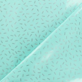 Coated cotton fabric Party by Rico Design - mint silver x 10cm