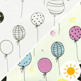 Tissu Oeko-Tex Jersey Photosensible - ballons x 10cm