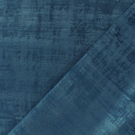 Milan velvet fabric - midnight blue x 10cm