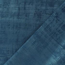 Tissu velours Milan - bleu nuit x 10cm