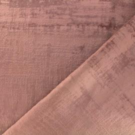 Tissu velours Milan - rose ancien x 10cm