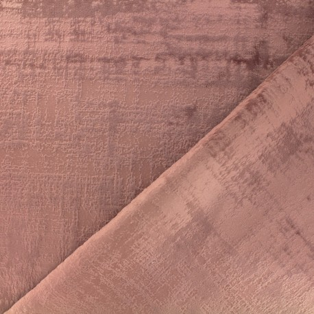 Milan velvet fabric - ancient pink x 10cm