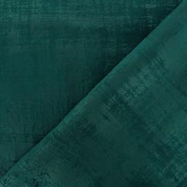 Tissu velours Milan Thevenon - bleu canard x 10cm