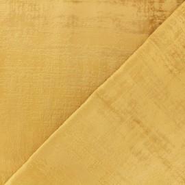 Milan velvet fabric - gold x 10cm