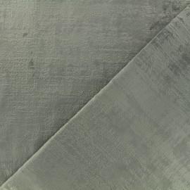 Tissu velours Milan - gris perlé x 10cm