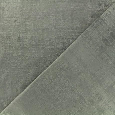 Milan velvet fabric - pearl grey x 10cm