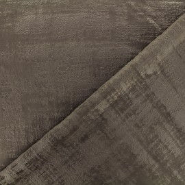 Milan velvet fabric - taupe x 10cm