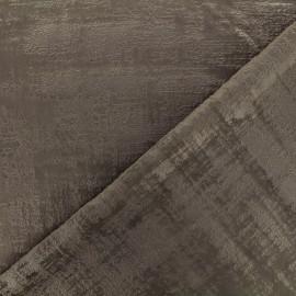 Tissu velours Milan - taupe x 10cm