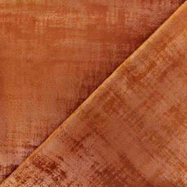 Tissu velours Milan - terre de sienne x 10cm