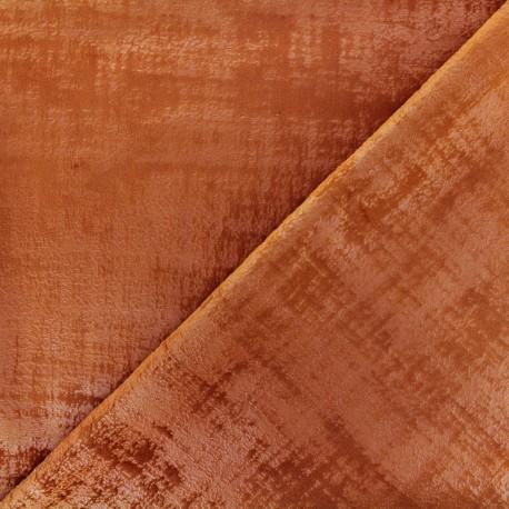 Milan velvet fabric - sienna x 10cm