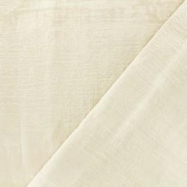 Tissu velours Milan Thevenon - naturel x 10cm