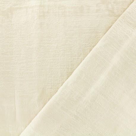 Milan velvet fabric - natural x 10cm