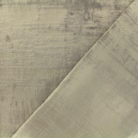 Milan velvet fabric - beige x 10cm