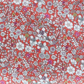 Tissu Liberty - June's meadow - rouge x 10cm