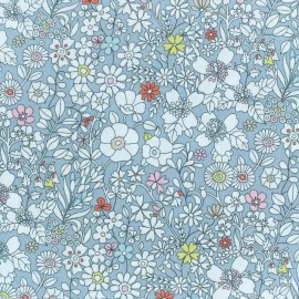 Tissu Liberty - June's meadow - gris bleu  x 10cm
