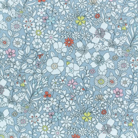 Tissu Liberty - June's meadow - gris  x 10cm