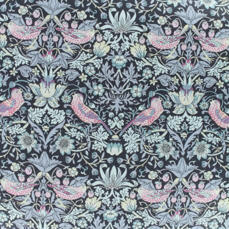 Tissu Liberty - Strawberry Thief - noir x 10cm