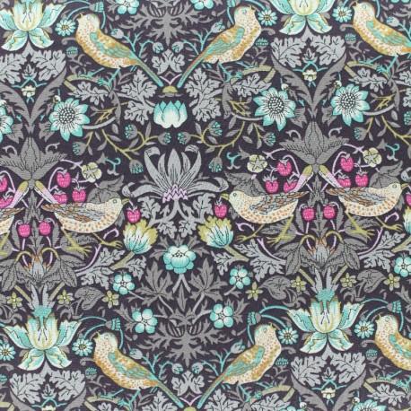Liberty fabric - Strawberry Thief - chocolate x 10cm