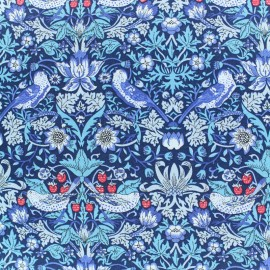 Tissu Liberty - Strawberry Thief - bleu x 10cm