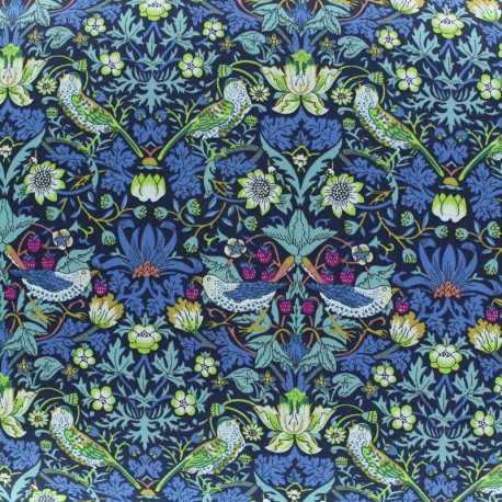 Liberty fabric - Strawberry Thief - blue x 10cm