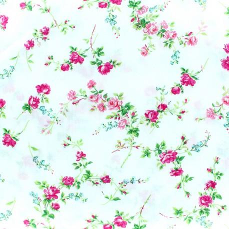 Tissu Liberty - Elizabeth - blanc x 10cm