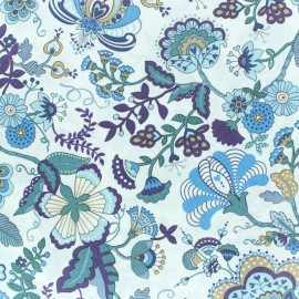 Liberty fabric - Mabelle- blue green x 10cm