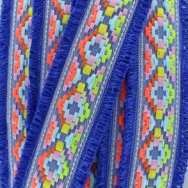 Galon frange Maya - bleu roi x 50cm