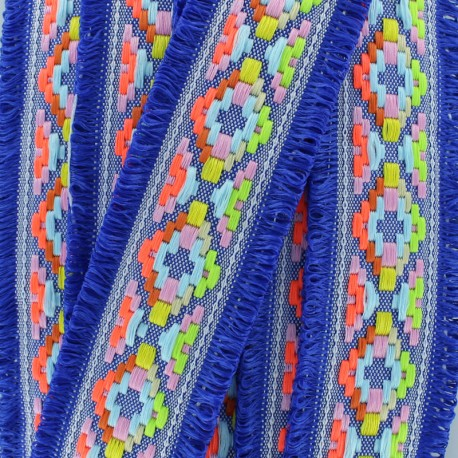 Maya fringed braid - royal blue x 50cm