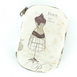 Sewing pouch Paris Fashion 1889 - beige