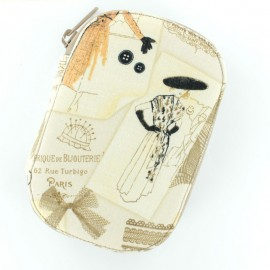 Sewing pouch Paris Vintage - beige