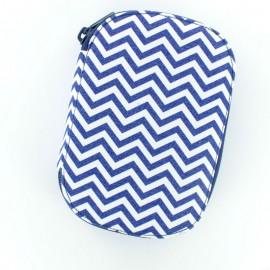 Pochette à couture Chevron - bleu