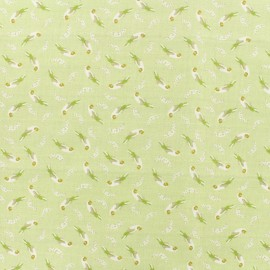 Popeline cotton fabric loro Platano - light green x 10cm