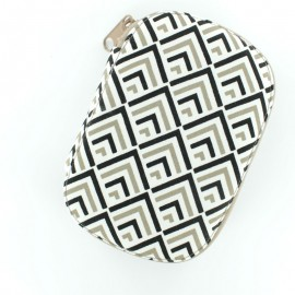 Pochette à couture Graphic - gris