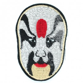 Thermocollant Masque Paillettes blanc 6.5x8.5cm