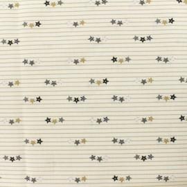 Tissu Popeline de coton Baby rabbit C - beige x 10cm