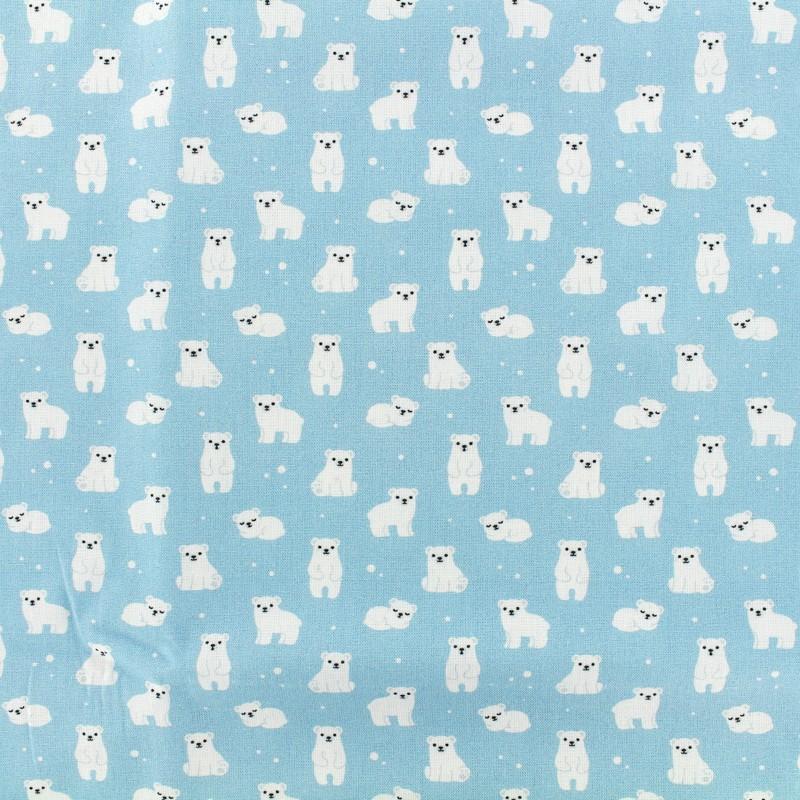 4 Motif serviettes serviettes des nappes Noël Ours polaire au Pôle Nord 015