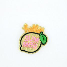 French fries iron on patch