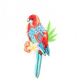 Tropical bird E iron on patch