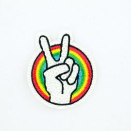 Rainbow Peace iron on patch