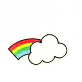 Rainbow Cloud iron on patch