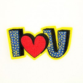 """I love u"" iron-on patch Funny motif collection"