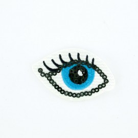 Blue eye iron-on patch Funny motif collection