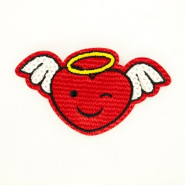 Heart angel iron-on patch Funny motif collection
